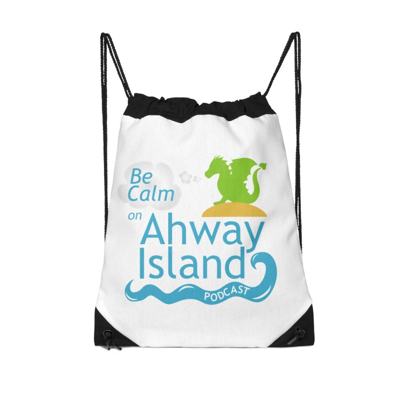 Ahway Island Merchandise Accessories Drawstring Bag Bag by ahwayisland's Artist Shop