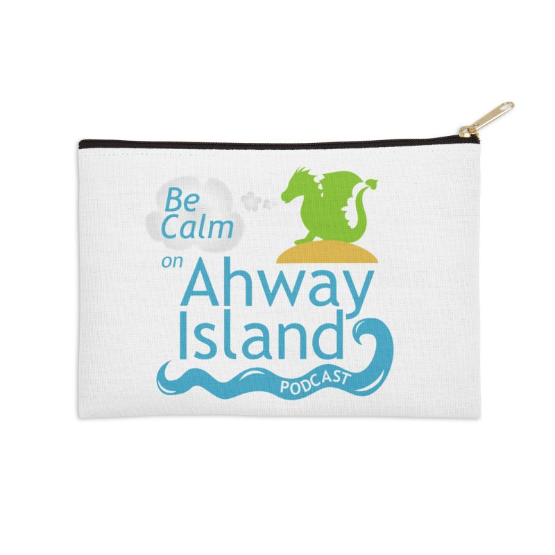 Be Calm on Ahway Island Merchandise Accessories Zip Pouch by ahwayisland's Artist Shop