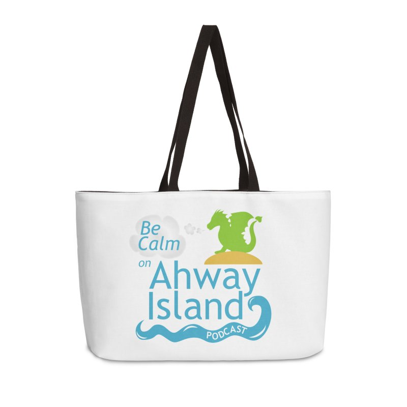 Be Calm on Ahway Island Merchandise Accessories Weekender Bag Bag by ahwayisland's Artist Shop