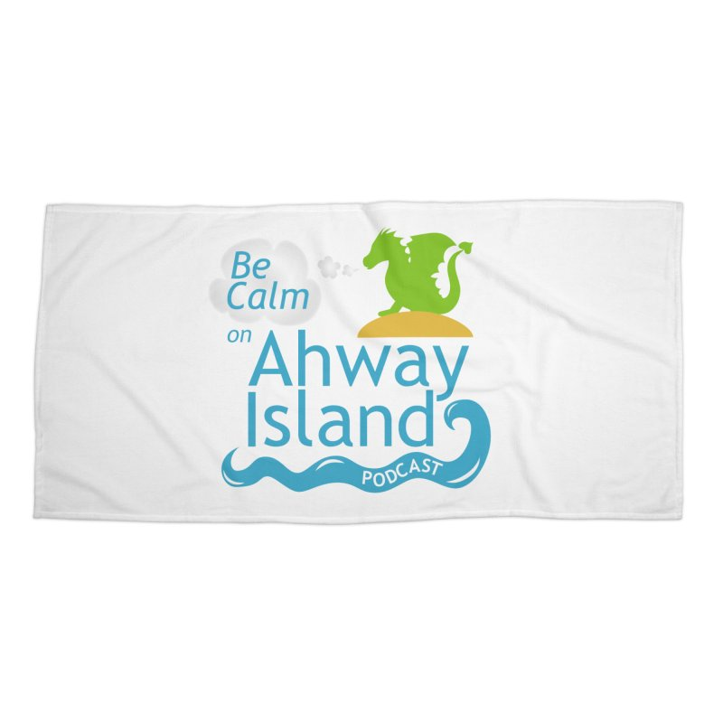 Be Calm on Ahway Island Merchandise Accessories Beach Towel by ahwayisland's Artist Shop