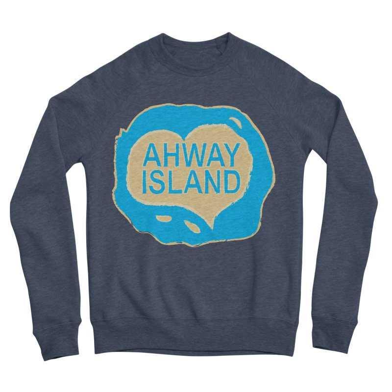 Welcome to Ahway Island Merchandise Men's Sponge Fleece Sweatshirt by ahwayisland's Artist Shop