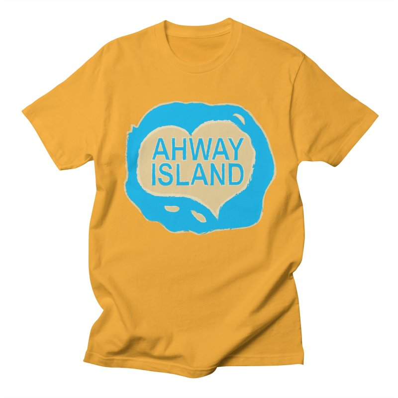 Welcome to Ahway Island Merchandise Men's Regular T-Shirt by ahwayisland's Artist Shop