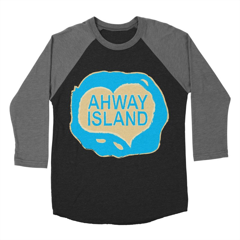 Welcome to Ahway Island Merchandise Women's Baseball Triblend Longsleeve T-Shirt by ahwayisland's Artist Shop