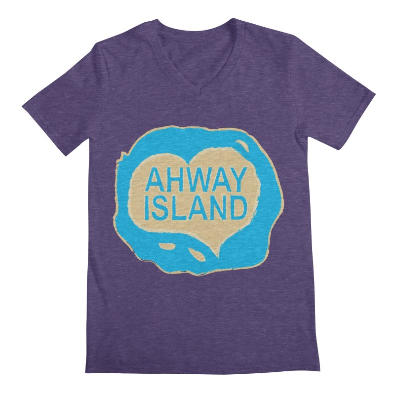 Welcome to Ahway Island Merchandise Men's Regular V-Neck by ahwayisland's Artist Shop
