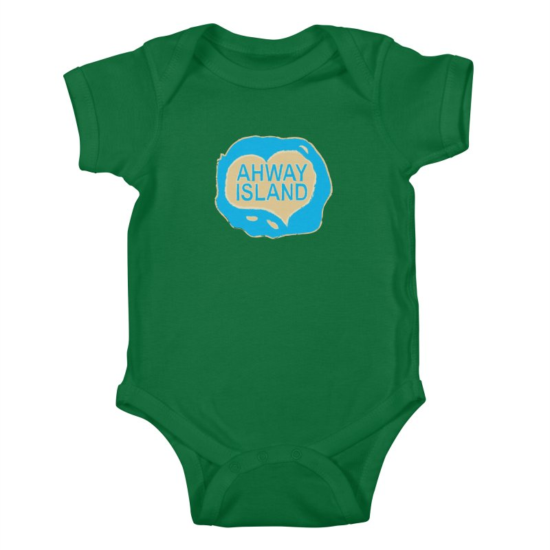 Welcome to Ahway Island Kids Baby Bodysuit by ahwayisland's Artist Shop