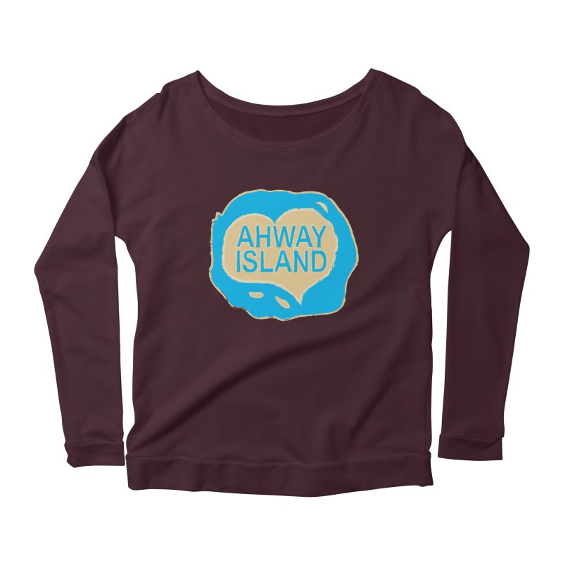Welcome to Ahway Island Merchandise Women's Scoop Neck Longsleeve T-Shirt by ahwayisland's Artist Shop
