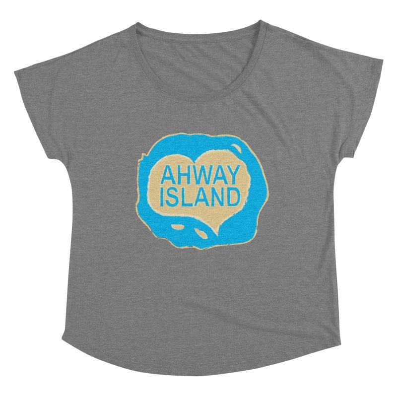 Welcome to Ahway Island Merchandise Women's Scoop Neck by ahwayisland's Artist Shop