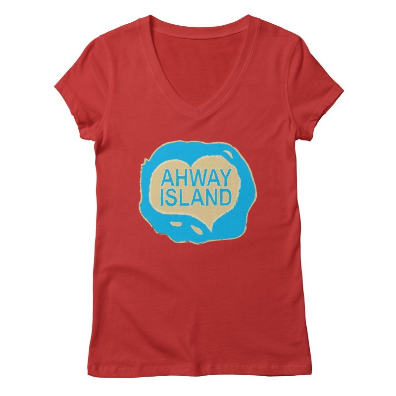 Welcome to Ahway Island Merchandise Women's Regular V-Neck by ahwayisland's Artist Shop