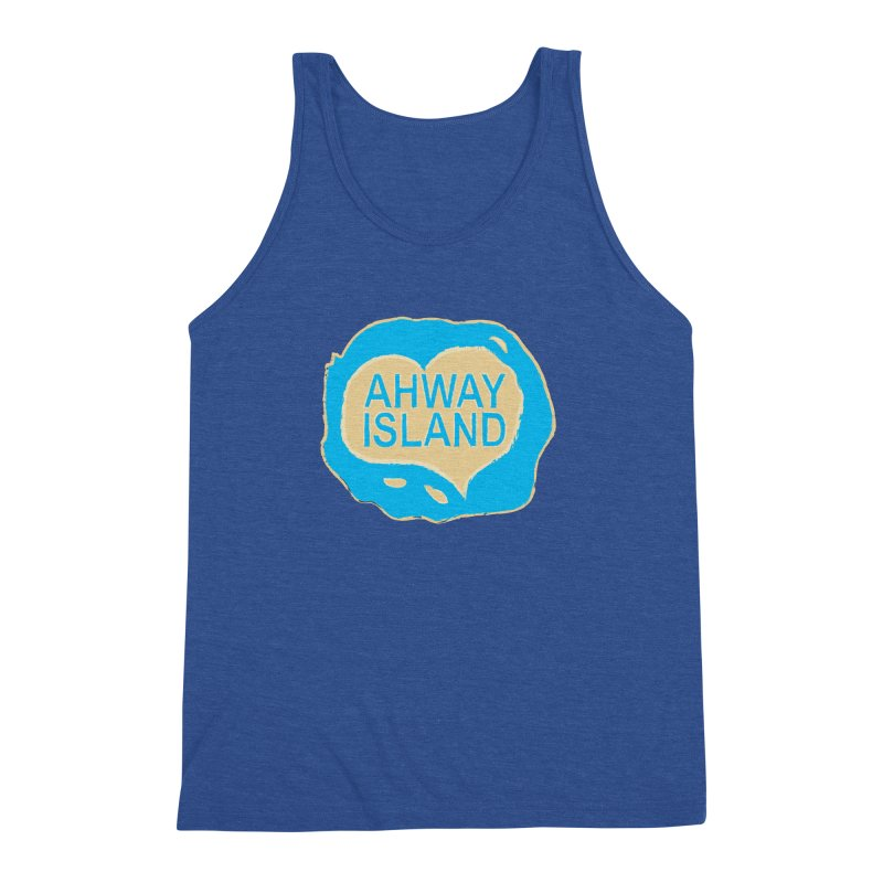 Welcome to Ahway Island Men's Triblend Tank by ahwayisland's Artist Shop
