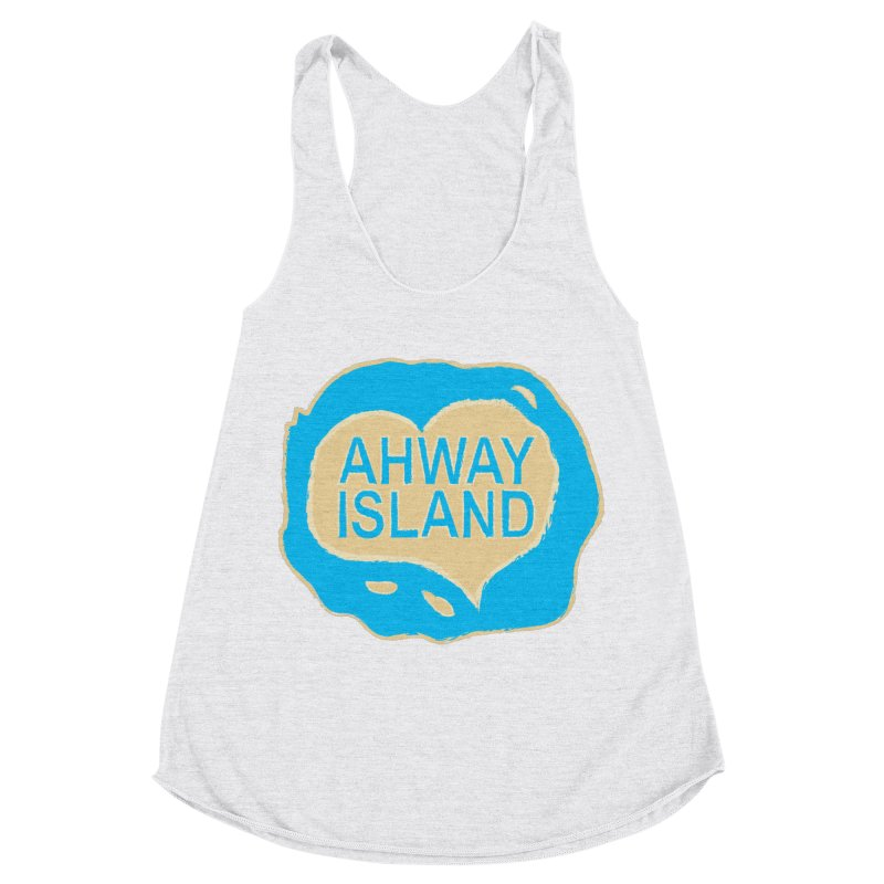 Welcome to Ahway Island Merchandise Women's Racerback Triblend Tank by ahwayisland's Artist Shop