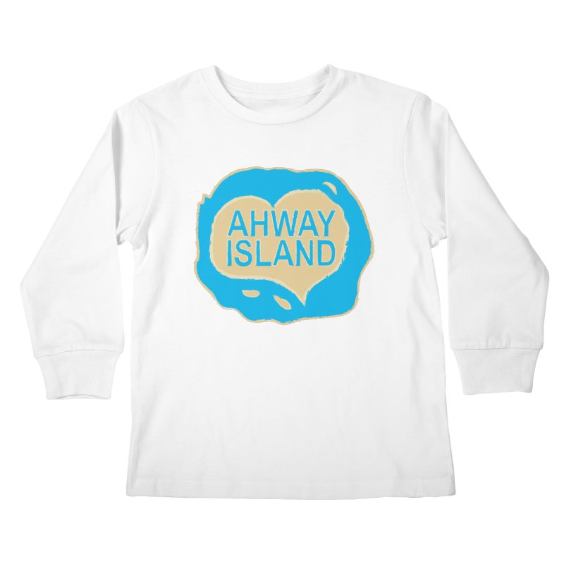 Welcome to Ahway Island Merchandise Kids Longsleeve T-Shirt by ahwayisland's Artist Shop