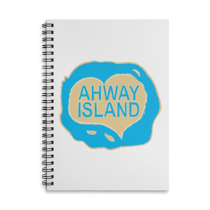 Welcome to Ahway Island Merchandise Accessories Lined Spiral Notebook by ahwayisland's Artist Shop