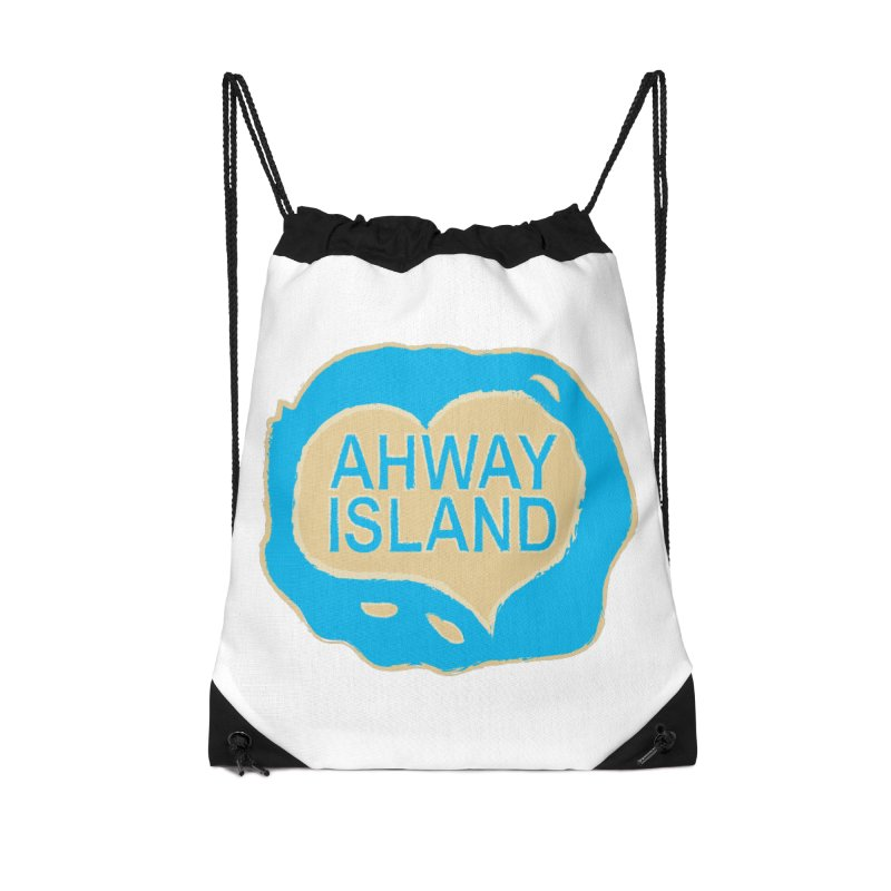 Welcome to Ahway Island Merchandise Accessories Drawstring Bag Bag by ahwayisland's Artist Shop