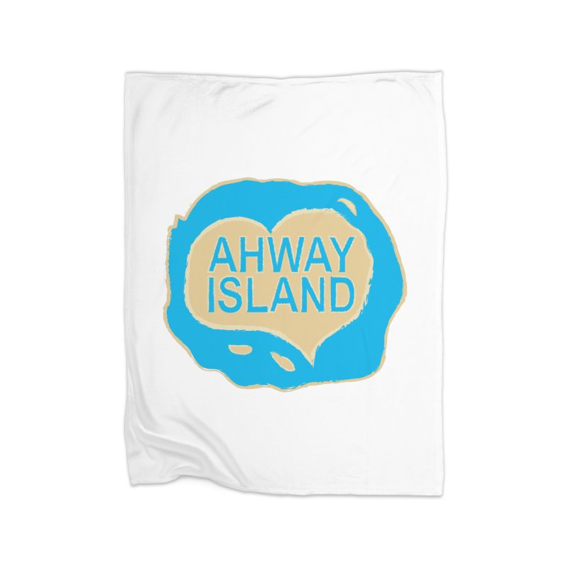 Welcome to Ahway Island Merchandise Home Fleece Blanket Blanket by ahwayisland's Artist Shop