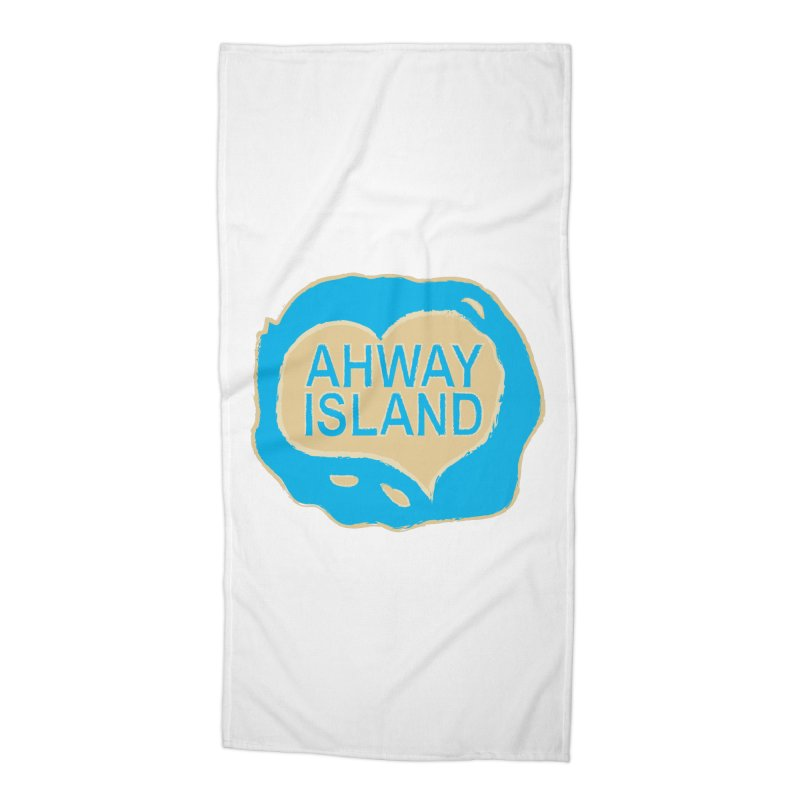 Welcome to Ahway Island Merchandise Accessories Beach Towel by ahwayisland's Artist Shop