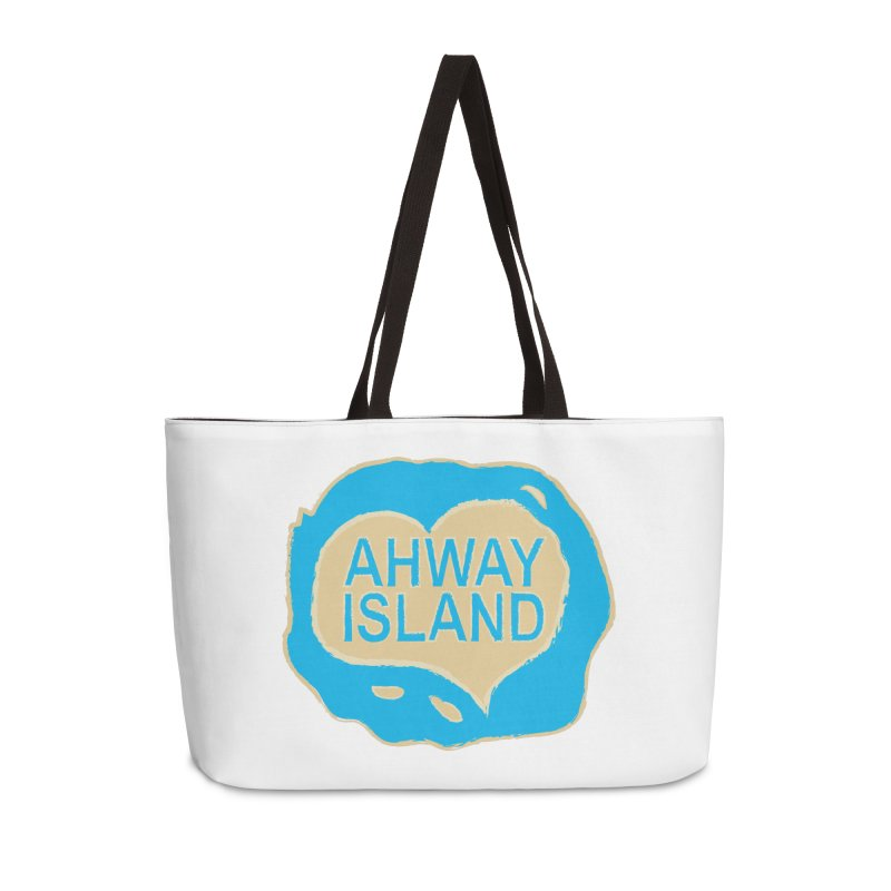 Welcome to Ahway Island Merchandise Accessories Weekender Bag Bag by ahwayisland's Artist Shop