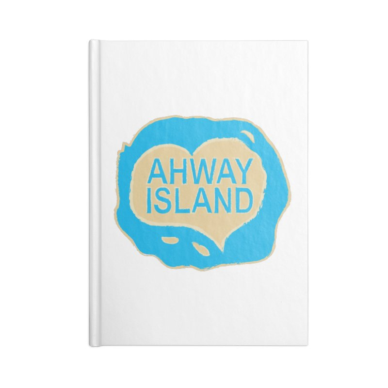 Welcome to Ahway Island Merchandise Accessories Lined Journal Notebook by ahwayisland's Artist Shop