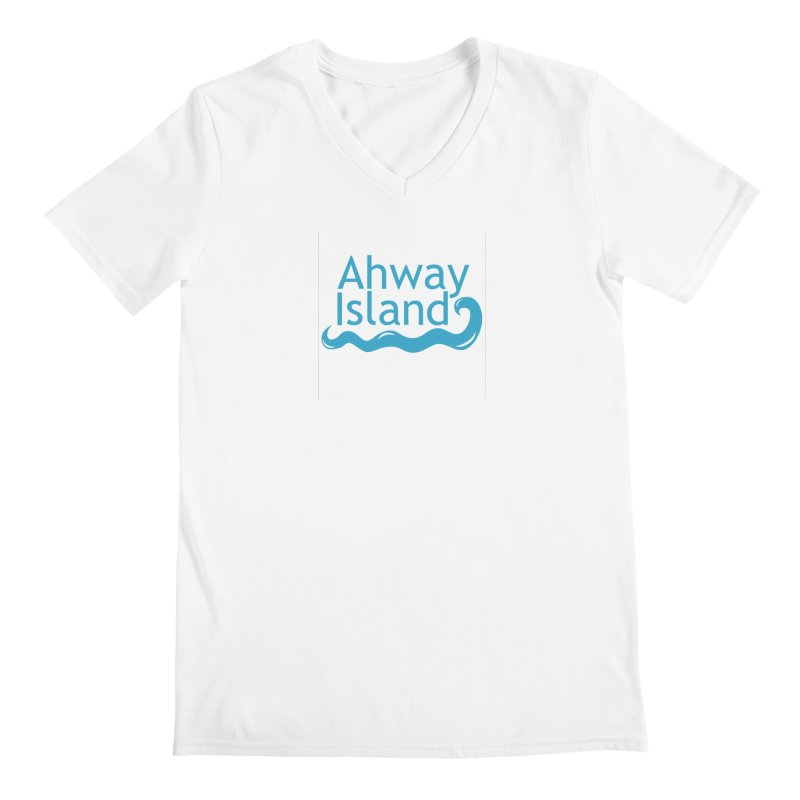 Welcome to Ahway Island Men's Regular V-Neck by ahwayisland's Artist Shop