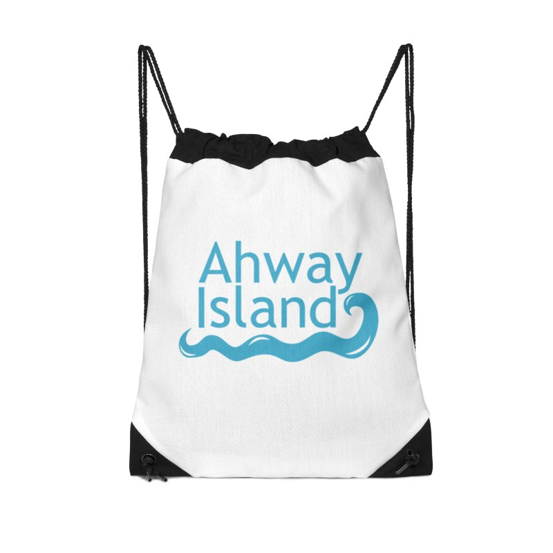 Welcome to Ahway Island Accessories Drawstring Bag Bag by ahwayisland's Artist Shop