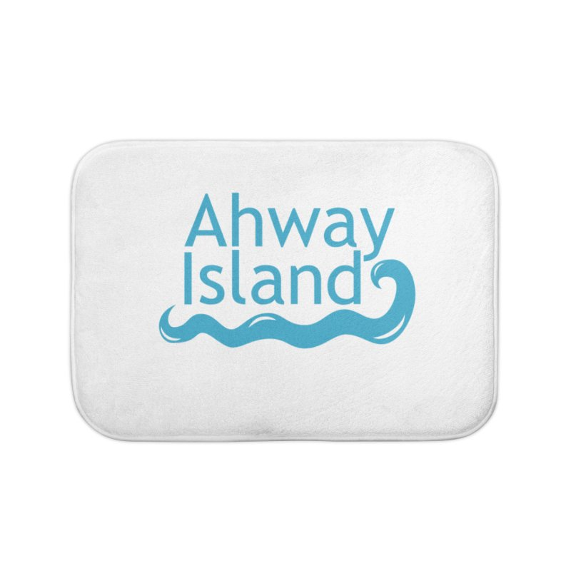 Welcome to Ahway Island Home Bath Mat by ahwayisland's Artist Shop