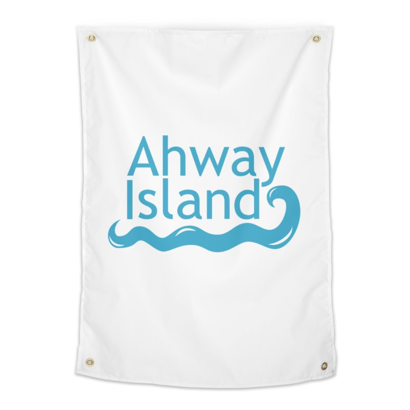 Welcome to Ahway Island Home Tapestry by ahwayisland's Artist Shop