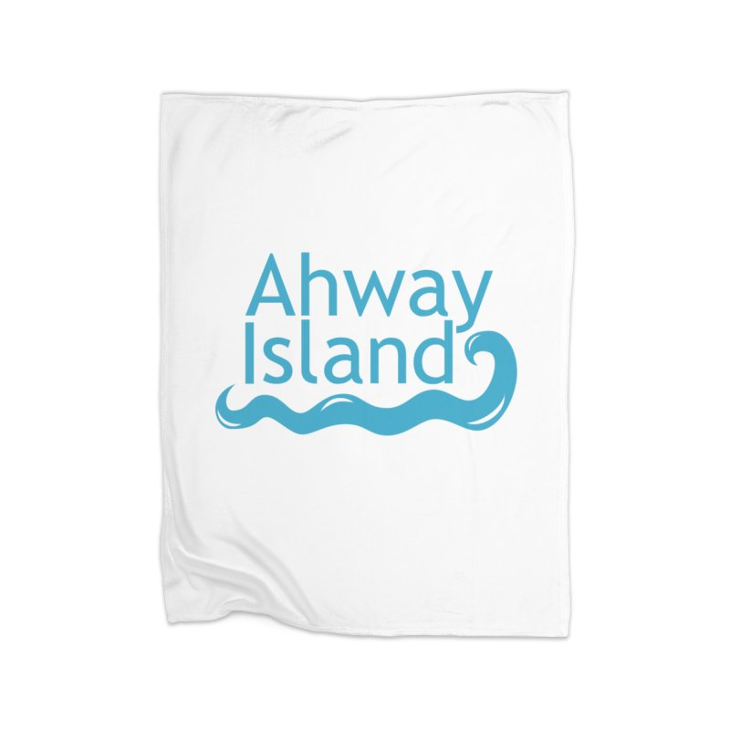 Welcome to Ahway Island Home Fleece Blanket Blanket by ahwayisland's Artist Shop