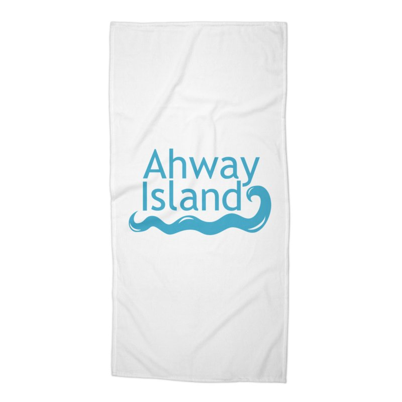 Welcome to Ahway Island Accessories Beach Towel by ahwayisland's Artist Shop