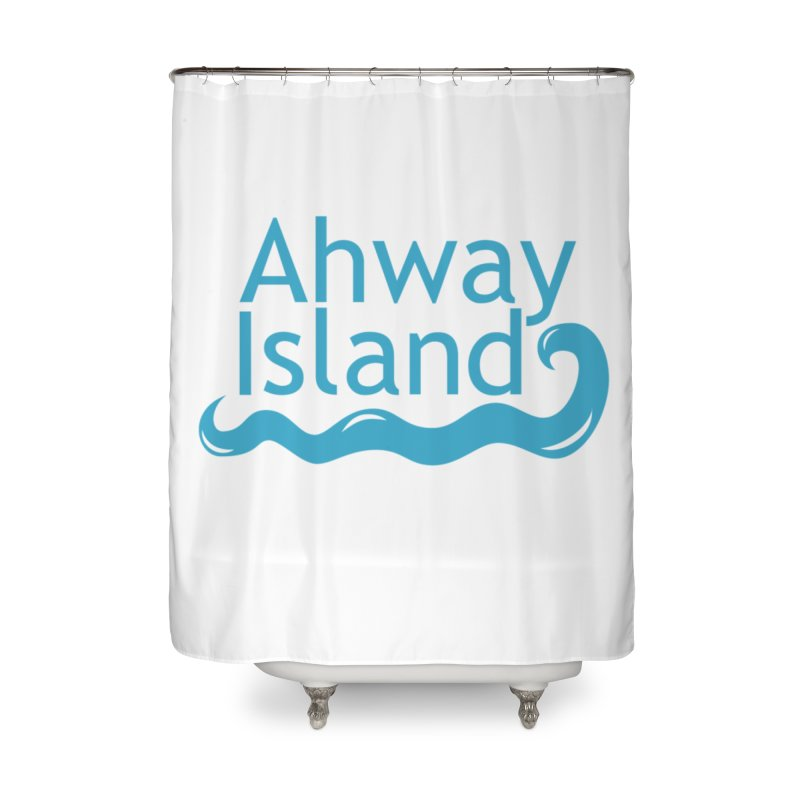 Welcome to Ahway Island Home Shower Curtain by ahwayisland's Artist Shop