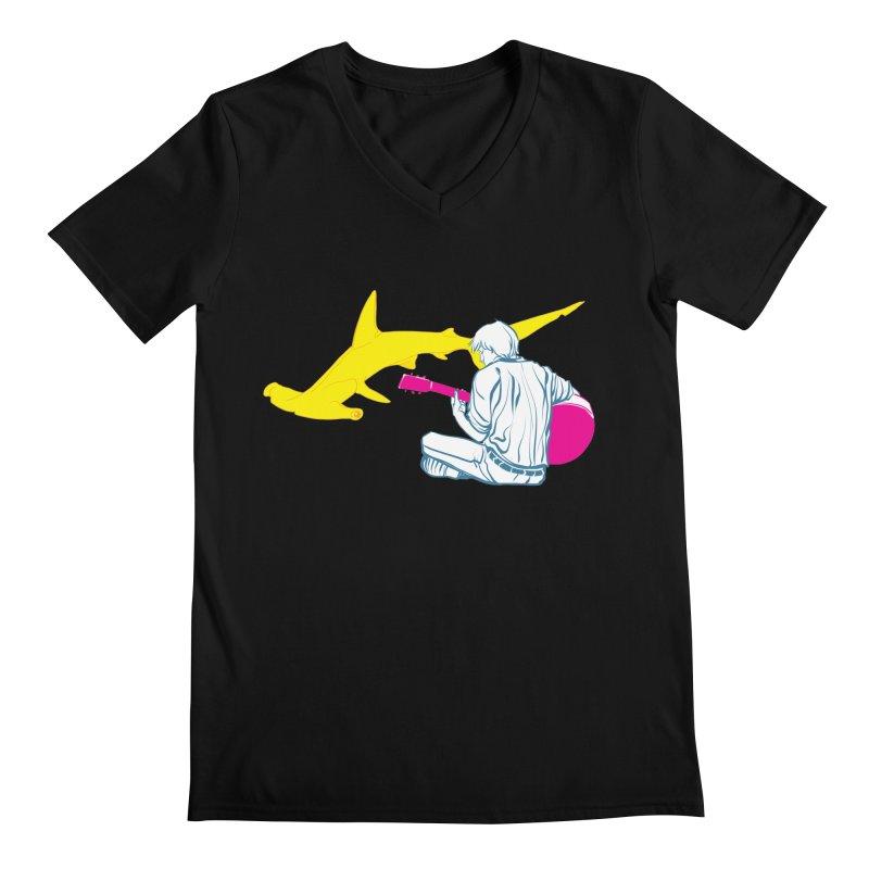 Lemonhead Shark Men's V-Neck by ahyb's Artist Shop