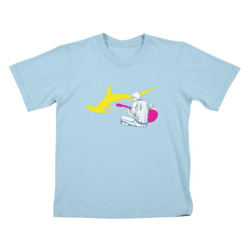 Lemonhead Shark Kids T-shirt by ahyb's Artist Shop