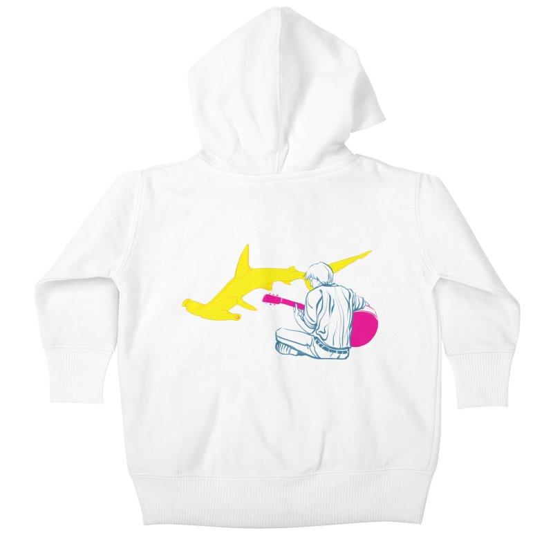 Lemonhead Shark Kids Baby Zip-Up Hoody by ahyb's Artist Shop
