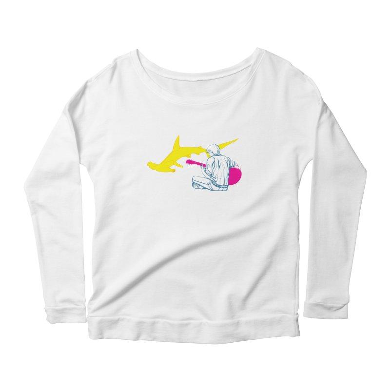 Lemonhead Shark Women's Longsleeve Scoopneck  by ahyb's Artist Shop
