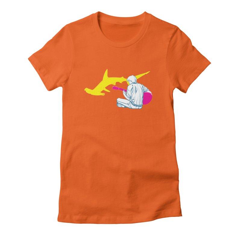 Lemonhead Shark Women's Fitted T-Shirt by ahyb's Artist Shop