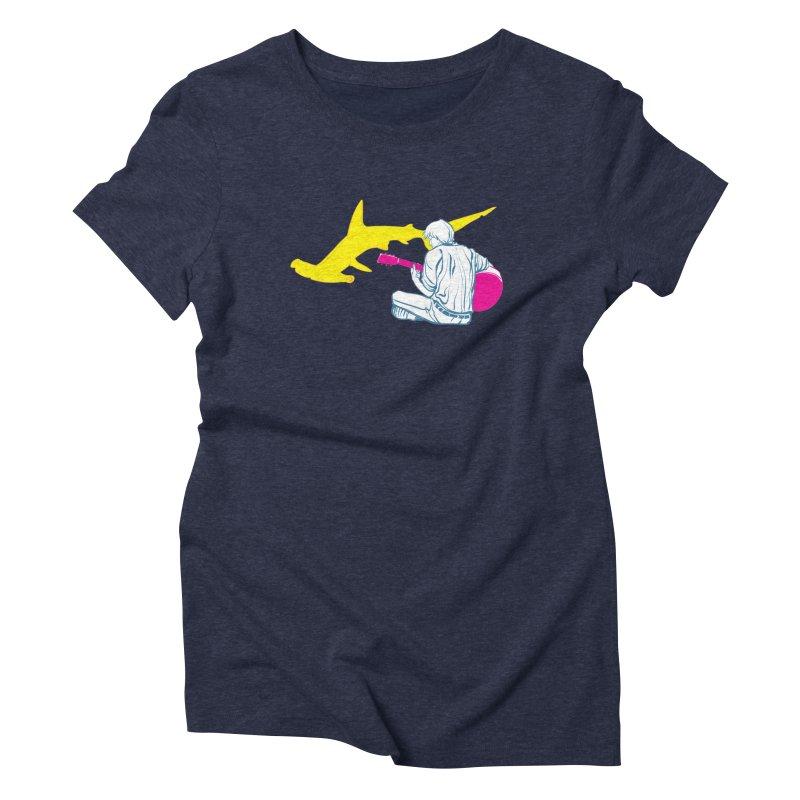 Lemonhead Shark Women's Triblend T-Shirt by ahyb's Artist Shop