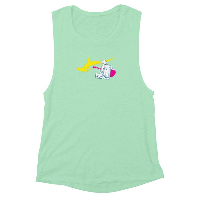 Lemonhead Shark Women's Muscle Tank by ahyb's Artist Shop