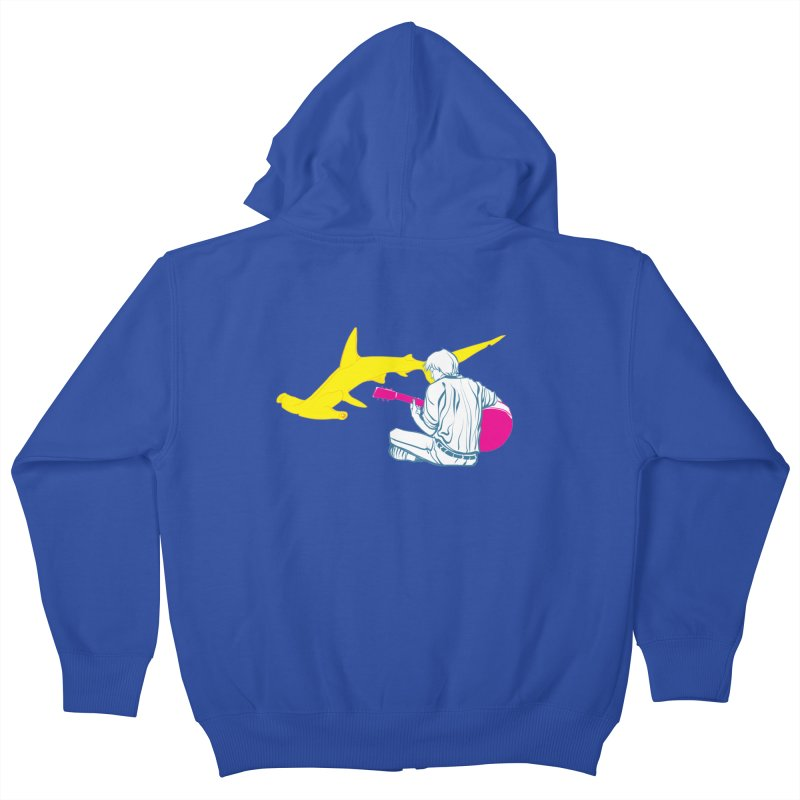 Lemonhead Shark Kids Zip-Up Hoody by ahyb's Artist Shop