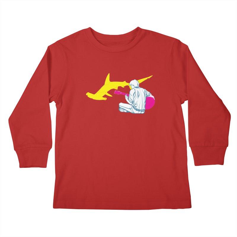 Lemonhead Shark Kids Longsleeve T-Shirt by ahyb's Artist Shop