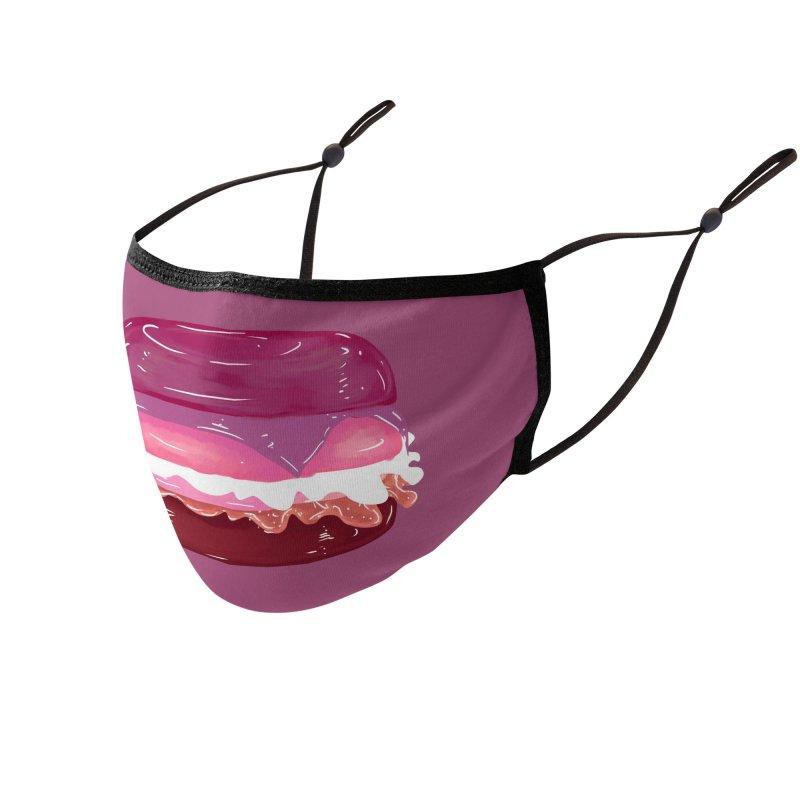 Lesbian Burger Accessories Face Mask by Aidadaism