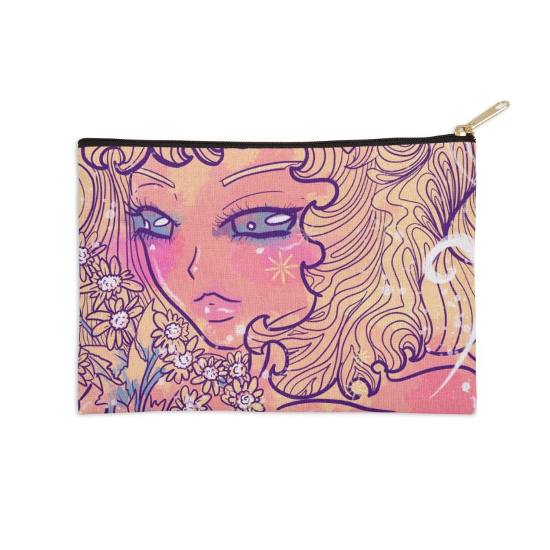Daisy in the Evening Accessories Zip Pouch by Aidadaism