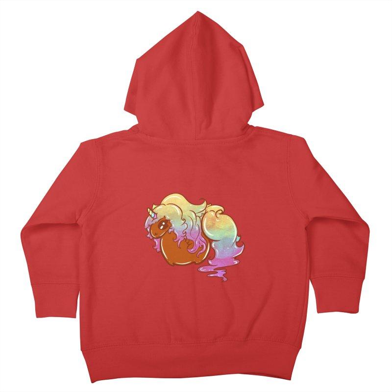 Flavour Unicorn ( In Purple ) Kids Toddler Zip-Up Hoody by Aidadaism