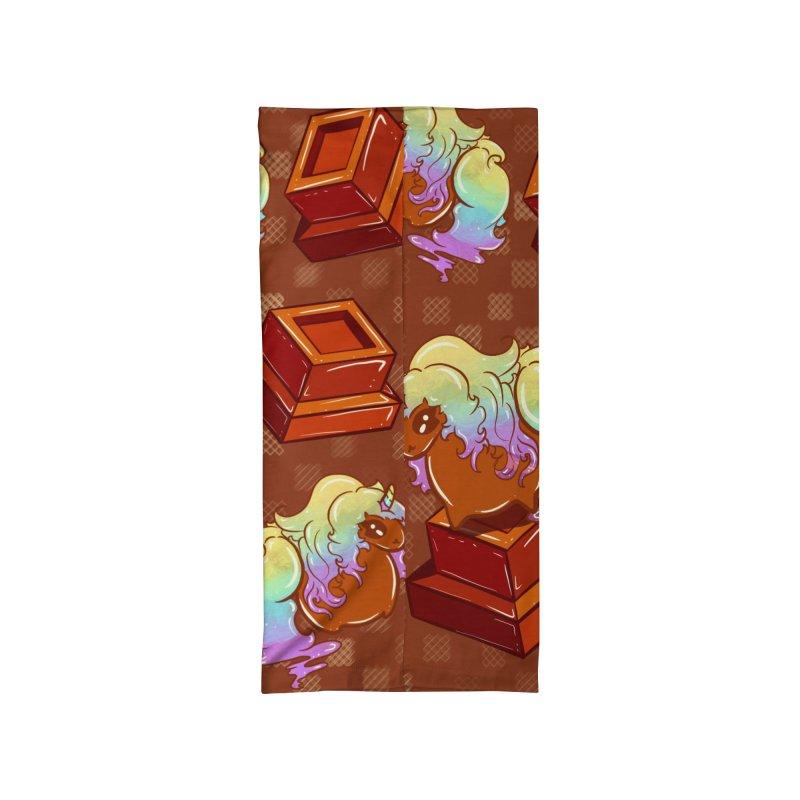 Flavor Unicorn - Chocolate Unicorn ( In Chocolate Checked Print ) Accessories Neck Gaiter by Aidadaism