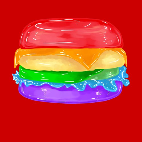 Design for The Gay Burger ( In Red )