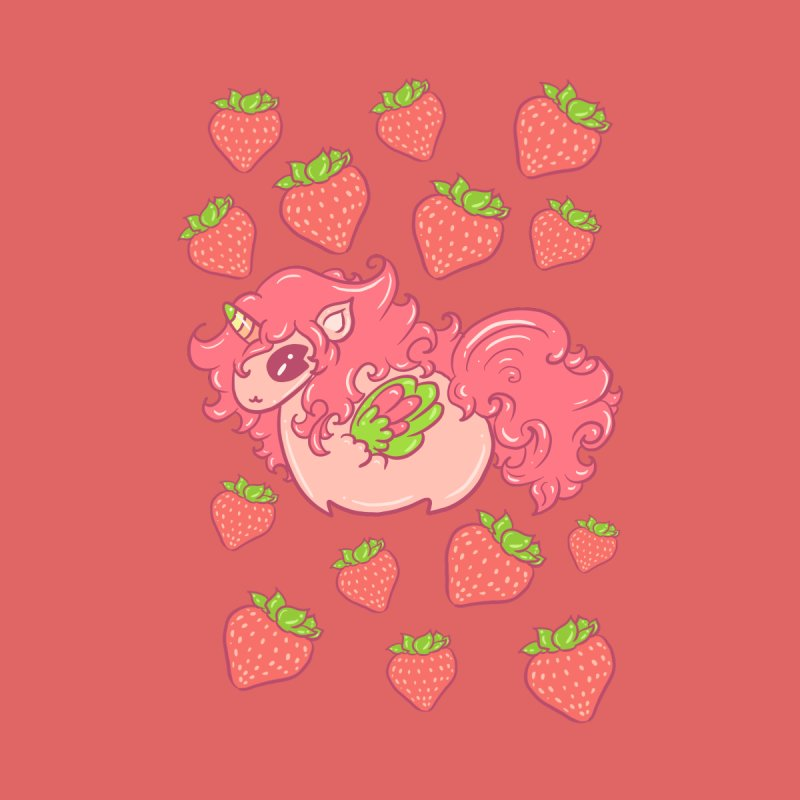 Strawberry Unicorn in Strawberries Accessories Face Mask by Aidadaism