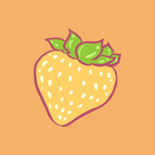 Design for Yellow Strawberry