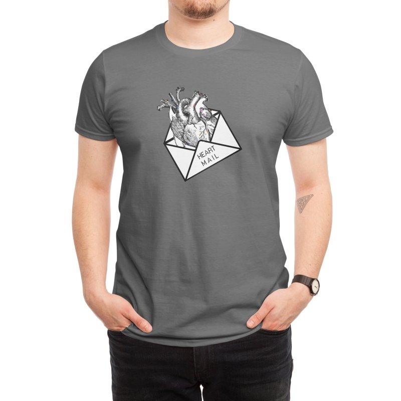 Heart Mail Men's T-Shirt by Aidadaism