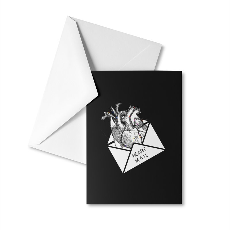 Heart Mail Accessories Greeting Card by Aidadaism