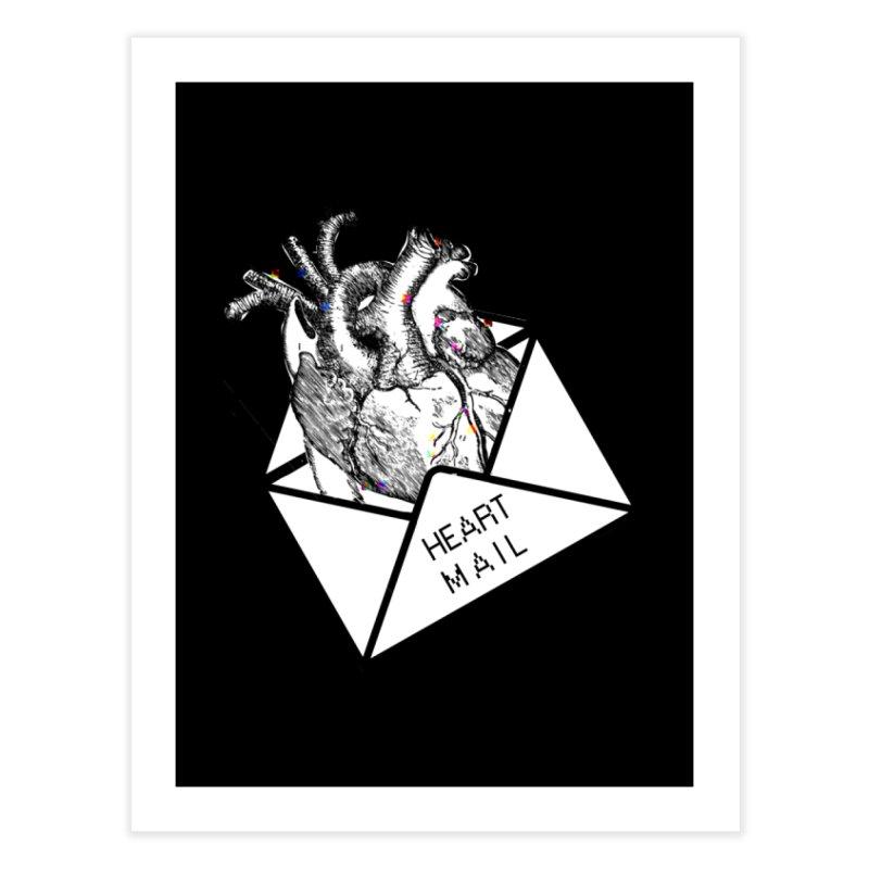 Heart Mail Home Fine Art Print by Aidadaism