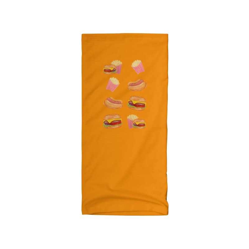Burgers Fries and Hotdogs Accessories Neck Gaiter by Aidadaism