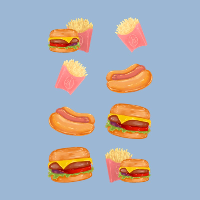 Burgers Fries and Hotdogs Accessories Face Mask by Aidadaism
