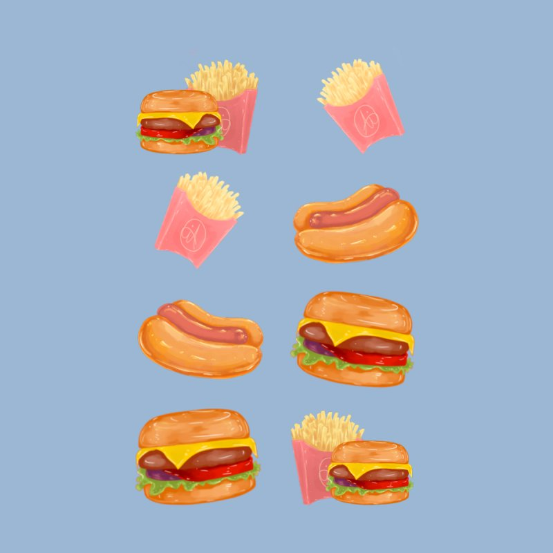 Burgers Fries and Hotdogs Accessories Greeting Card by Aidadaism